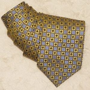 Alexander Julian Gold and Violet Geometric Tie